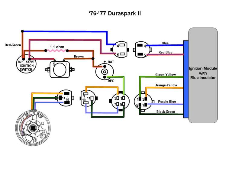 76 77 Duraspark II Color?resize\\\=665%2C499 1965 mustang color wiring diagram 1965 mustang door diagram, 1965 1965 mustang wiring diagram color at bayanpartner.co