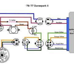 1975 Ford Duraspark Wiring Diagram D16z6 Harness Diagrams 76 77 Ii Color