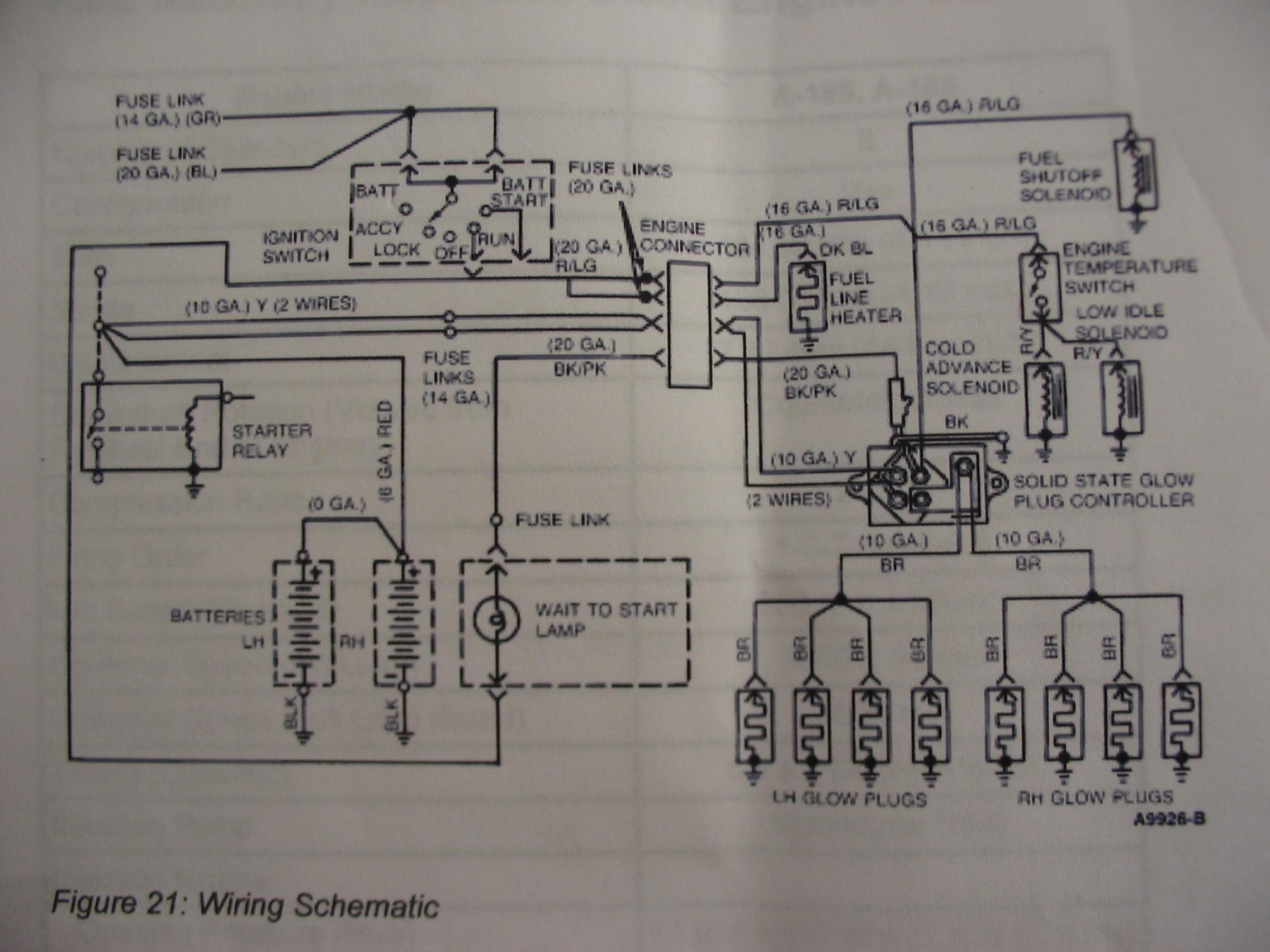 glow plug wiring diagram sea turtle life cycle ford diagrams