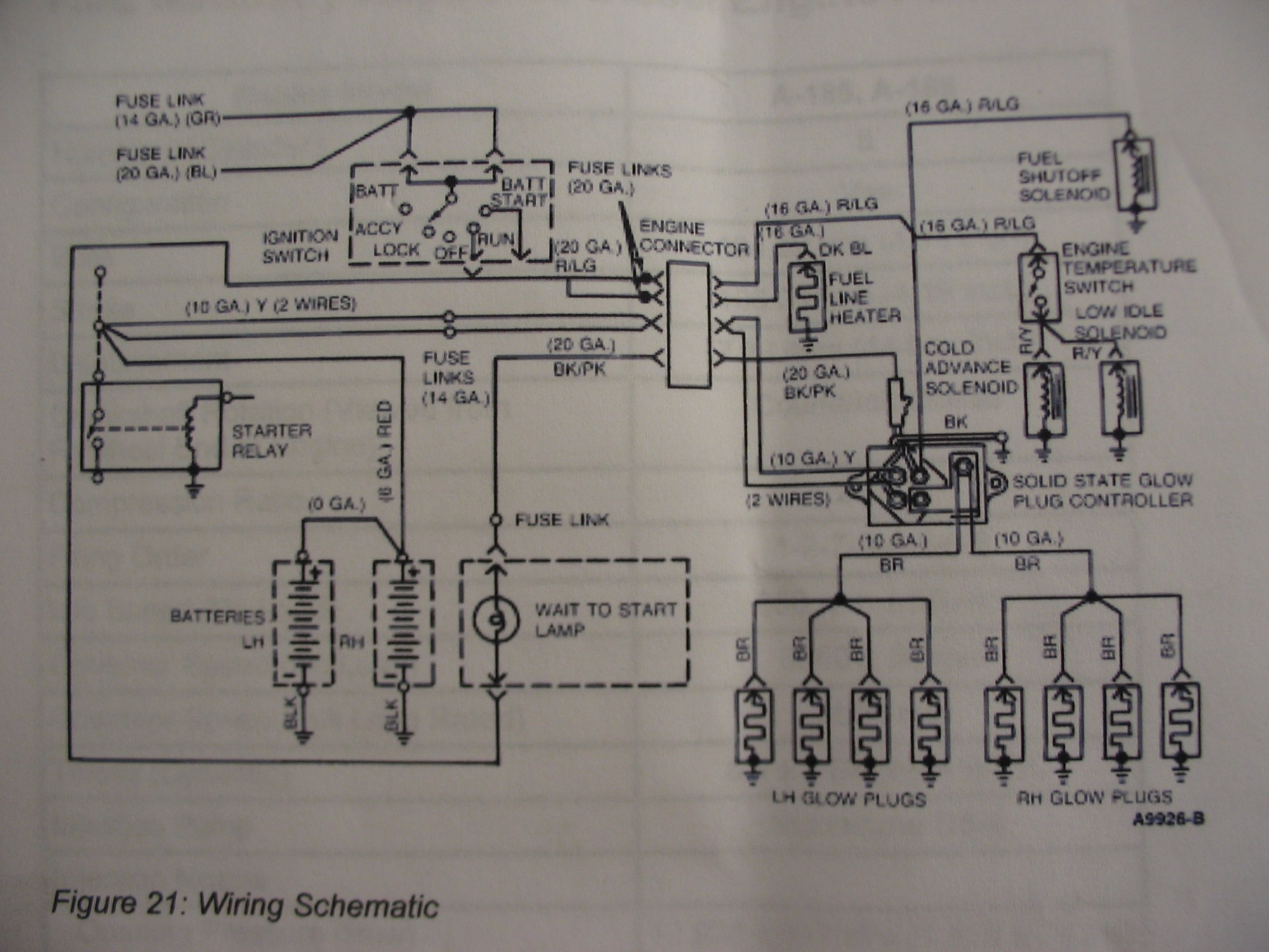 hight resolution of 91 ford glow plug wiring diagram