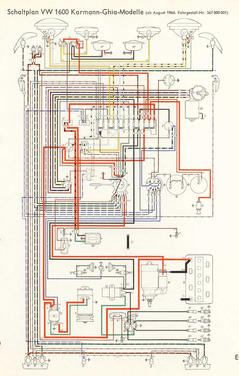 medium resolution of other diagrams 1967 plymouth fury wiring diagram 1966 vw 1600 karmann ghia wiring diagram