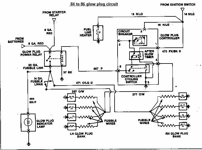 wiring diagram for a glow plug relay