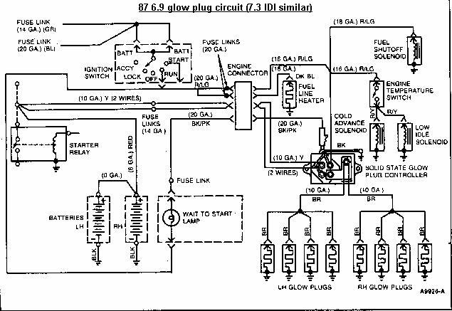 ford 73 glow plug relay wiring diagram