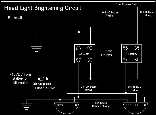 car light wiring diagram tpi harness ford diagrams headlight upgrade use halogen lights with your old figure a typical