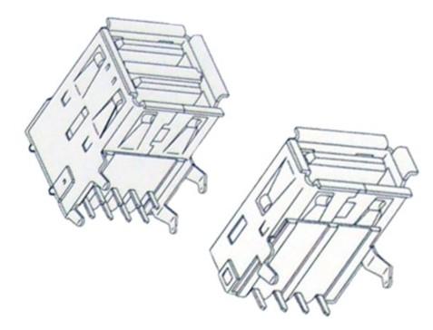 USB-PCB CONNECTORS
