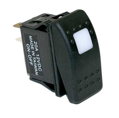 20 AMP @ 12 Volt SPST Carling Style Rocker Switches