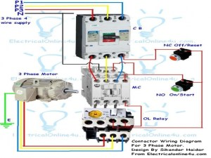 Wiring Diagram Single Phase Motor Contactor  Wiring Forums