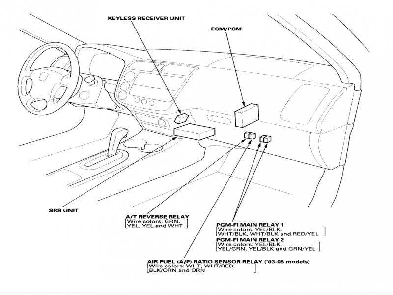 2001 Honda Accord Main Relay Wiring Diagram
