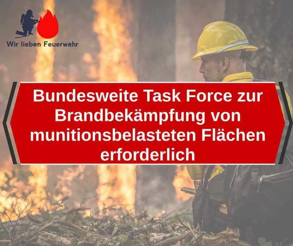 Bundesweite Task Force zur Brandbekämpfung von munitionsbelasteten Flächen erforderlich