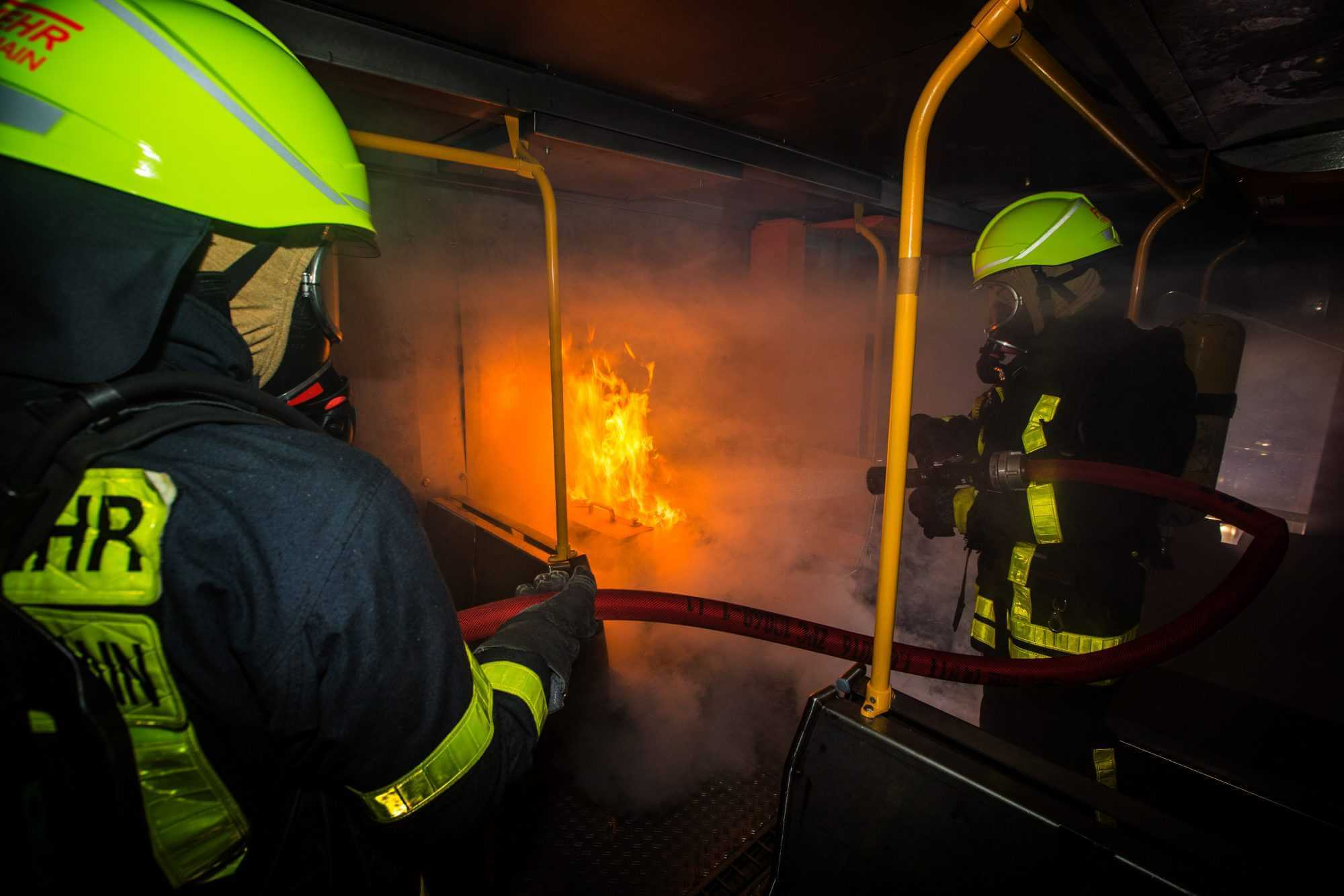Einsatzkräfte der Feuerwehr Frankfurt