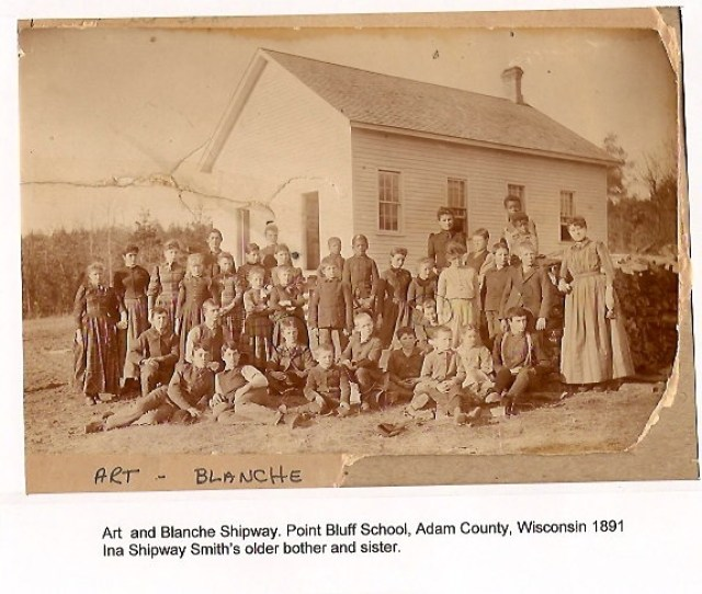 Contributed By Pj Burnsky The Photo Identifies Art And Blanche Shipway Their Heads Are Circled Regarding The Point Bluff School Photo Circa  Here
