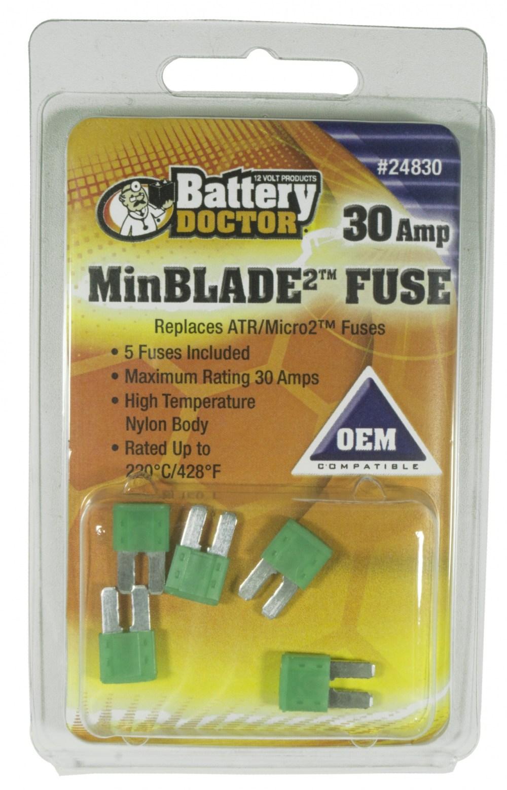 medium resolution of 30 amp minblade2 fuse 5 retail 24830