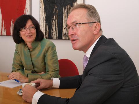 Iris Jandrasits und Georg Schima im Gespräch mit der Redaktion
