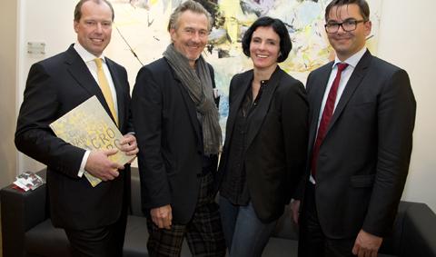 Markus Fellner, Gunter Damisch, Veronika Dirnhofer und Kurt Wratzfeld