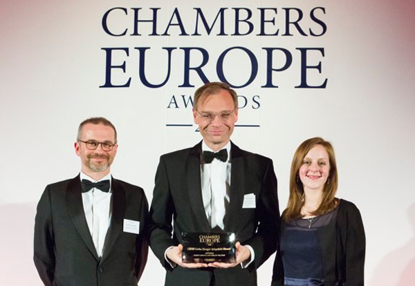 Chambers Europe Awards 2016, Grosvenor House London, 22nd April 2016