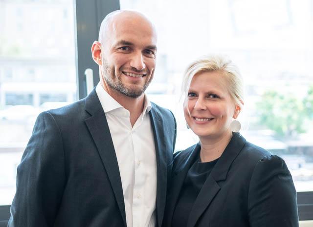 Tim Heissenberger und Michaela Pelinka