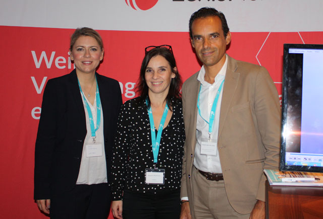 Sonja Thomschitz (Leitung Marketing LexisNexis), Susanne Mortimore (Director Sales & Marketing LexisNexis), Alberto Sanz de Lama (CEO LexisNexis)