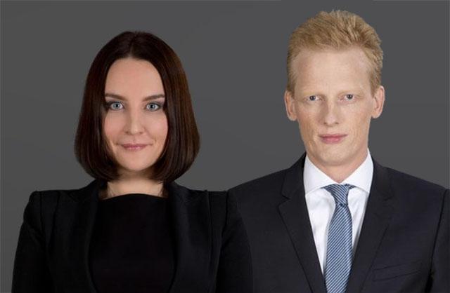 Senior Associate Ekaterina Larens und Dr. Christoph Mager, Partner und Leiter der Corporate-Praxis im Wiener Büro von DLA Piper