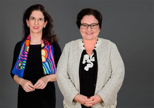 Maria Doralt und Sabine Fehringer