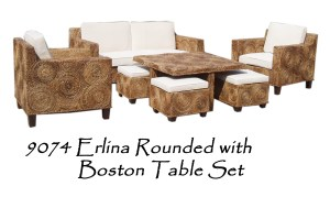 Erlina Rounded with Boston Table