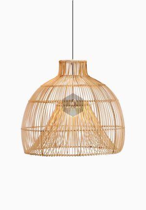 Bohemian Rattan Hanging Lamp On - Natural