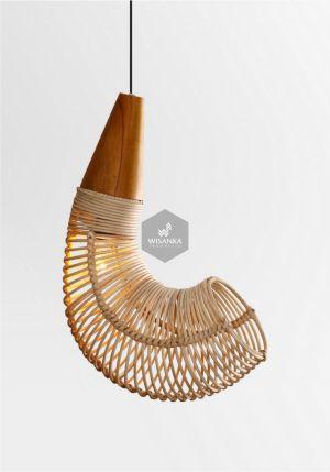 Rebon Rattan Hanging Lamp On