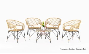 4 Gourmet Terrace Chair With Gourmet Table