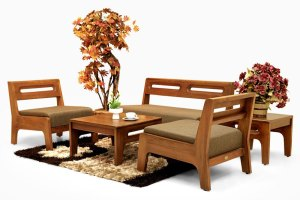 Teak wood living furniture Indonesia