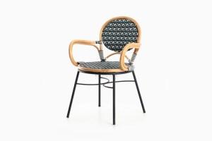 Aira Bistro Chair-Iron Leg