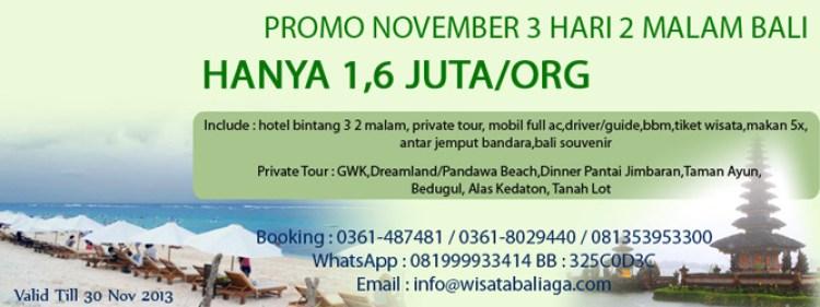 promo wisata bali november 2013