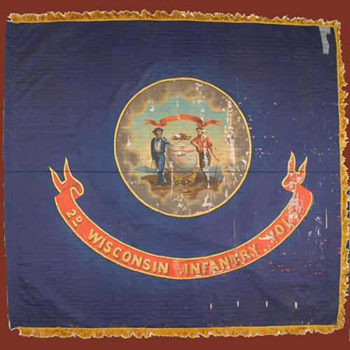 2nd Wisconsin Infantry battle flag