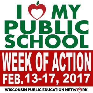 I love my public school WEEK OF ACTION