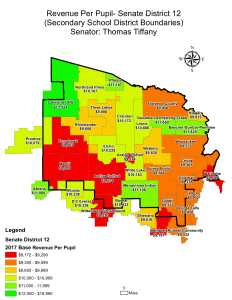 Wisconsin State map-secondary boundaries-15