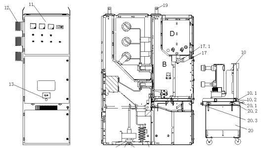 KYN28-24 AC Switchgear Indoor, High Voltage Circuit