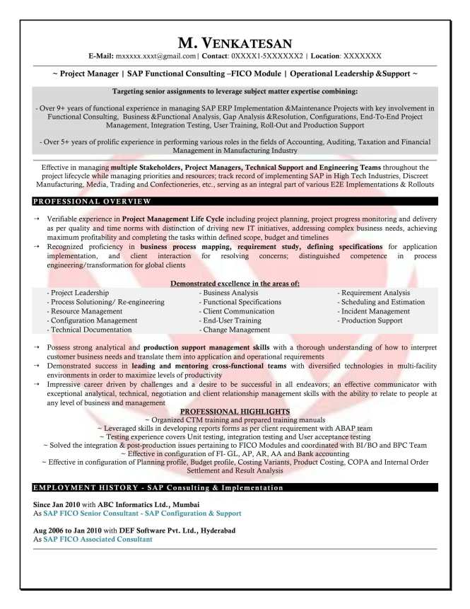 sap fico consultant resume format examples of data analysis in