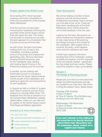 Canada Water Masterplan Brochure 2