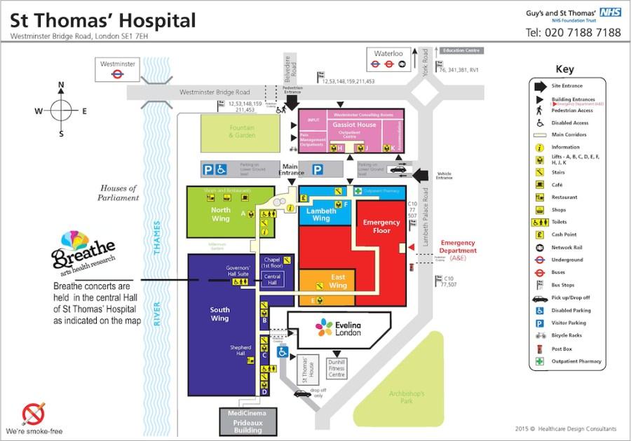 St Thomas' hospital Breathe concerts location