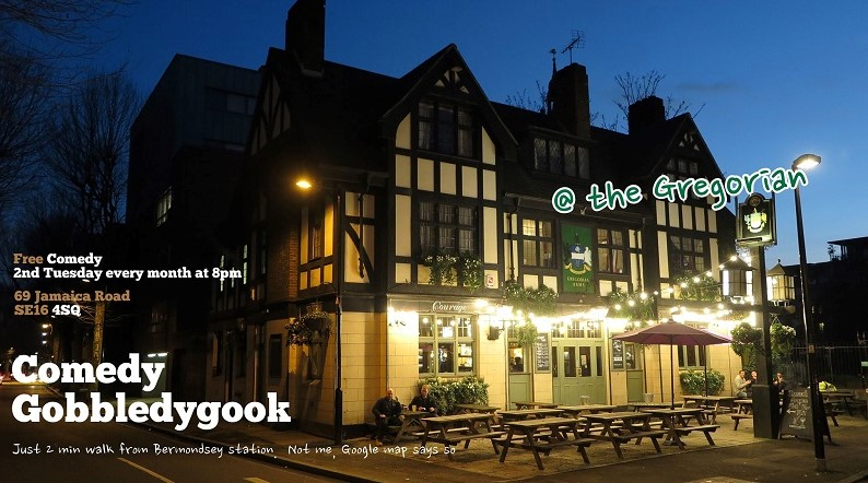 Free Comedy Night at The Gregorian Pub in Bermondsey