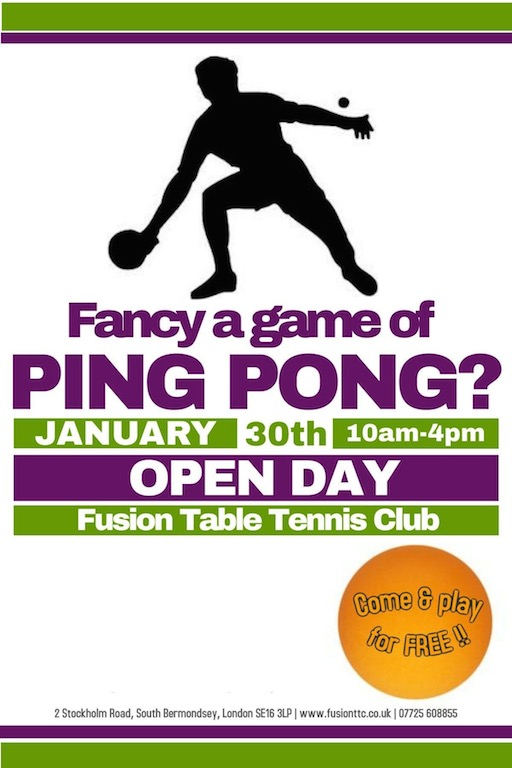 Table Tennis Club Open Day
