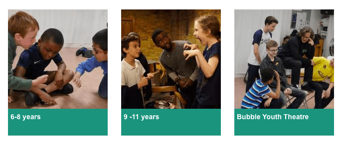 London Bubble Theatre Participatory Groups