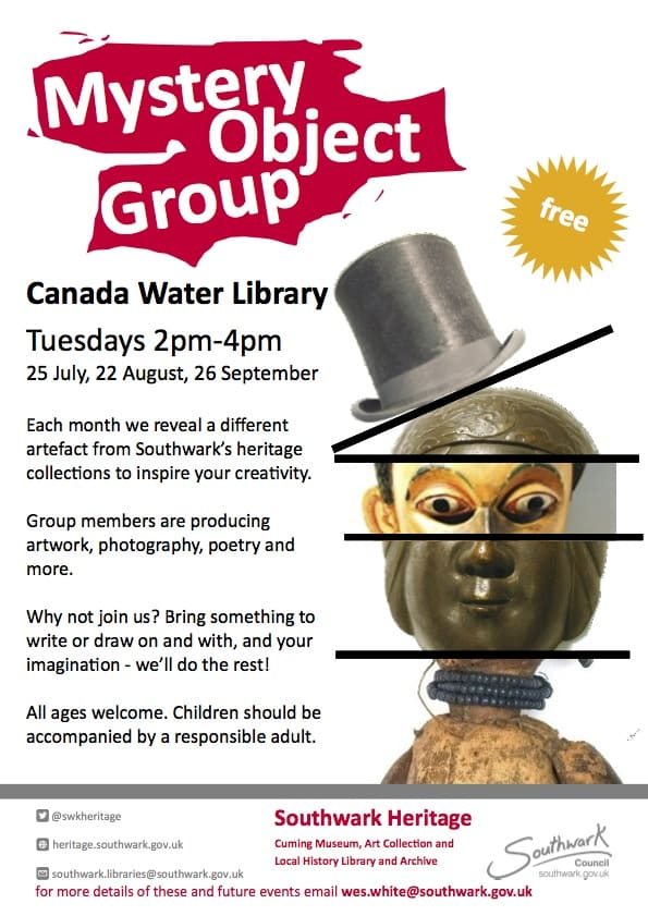 Canada Water Mystery Object Poster June-july-september