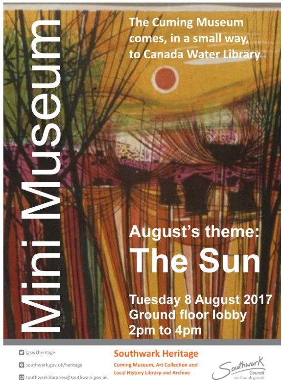 Museum on the move, August's Theme The Sun
