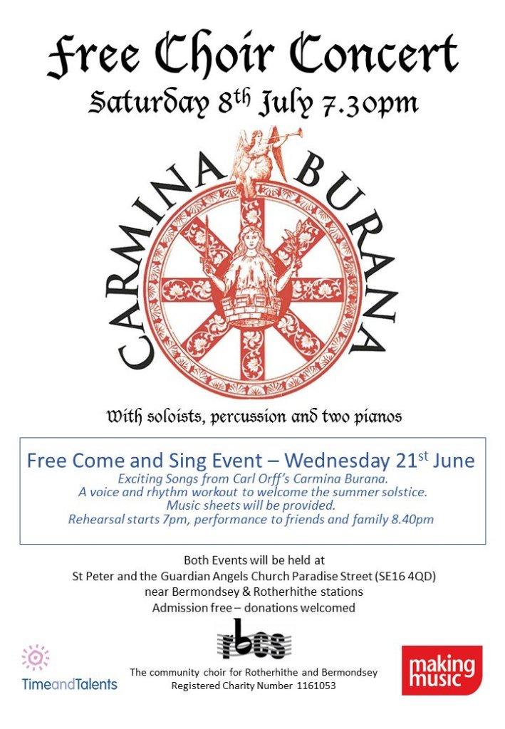 Rotherhithe Bermondsey Choral Society Free Choir Concert