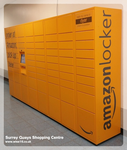 amazon locker a new service available at surrey quays shopping centre. Black Bedroom Furniture Sets. Home Design Ideas