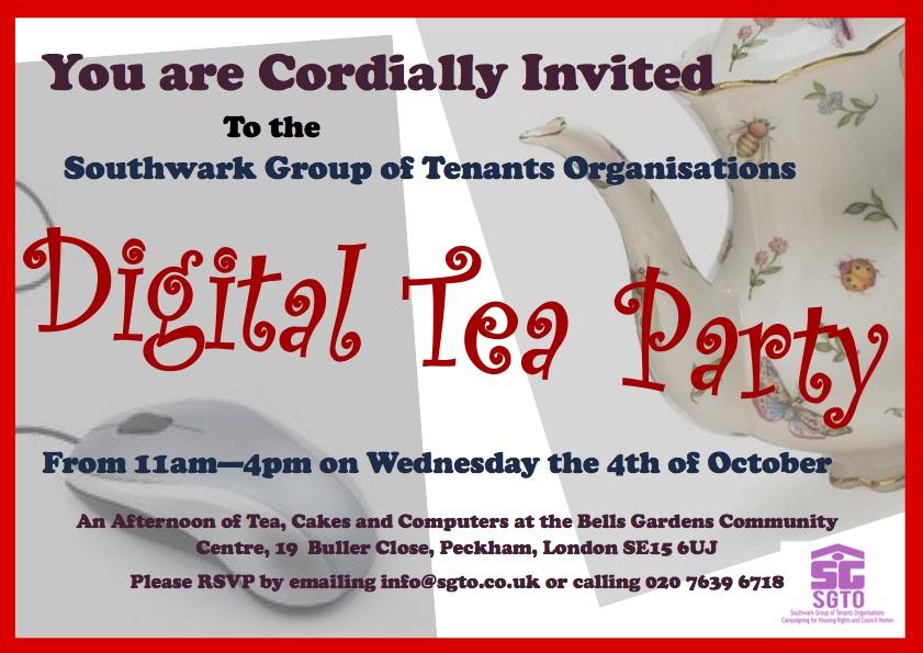 Southwark Group of Tenants Organisations Tea Party