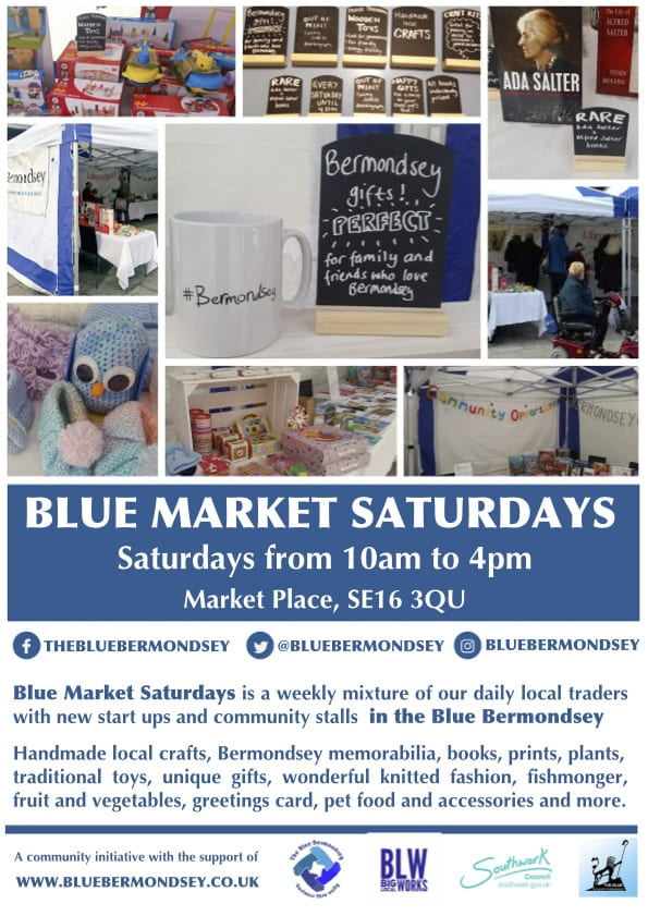 Blue Market Saturdays Poster-min