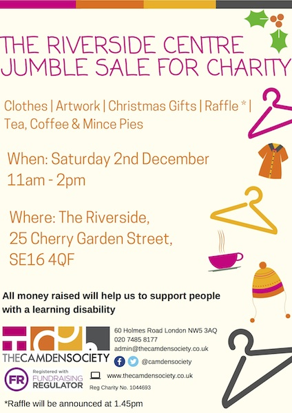 Riverside Centre Jumble poster