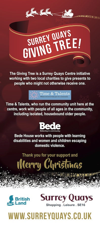 Surrey Quays Giving Tree Pullup Banner