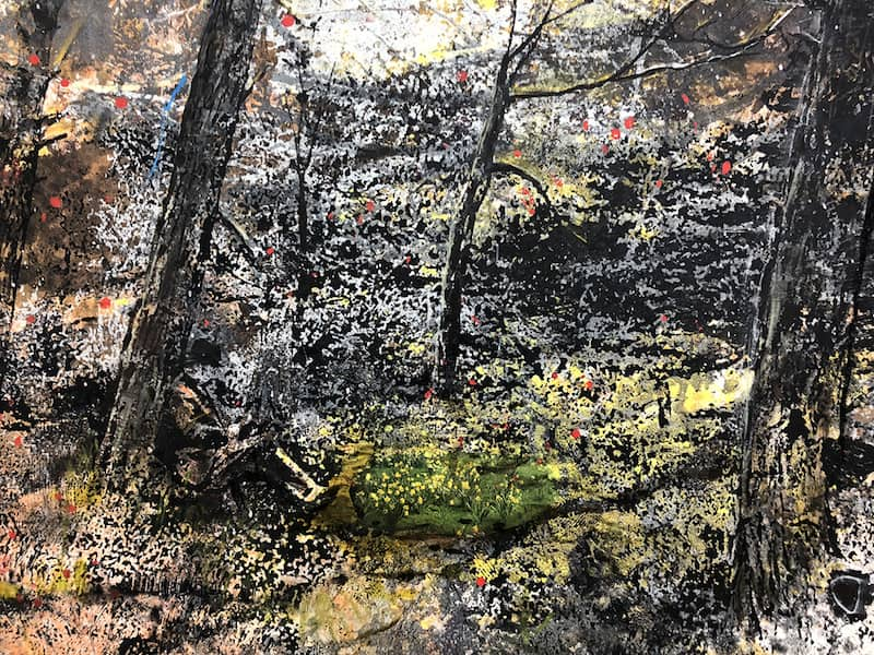 Elizabeth Magill, Still (dark), 2018, detail. Image courtesy of the artist and Matt's Gallery, London, Kerlin Gallery, Dublin and Anthony Wilkinson, London.