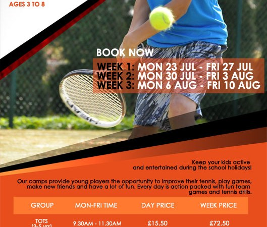 Canada Water Tennis Summer Holiday Junior Tennis Camp